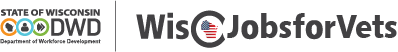 WisJobsForVets Logo and Link to the JCW Veteran Homepage